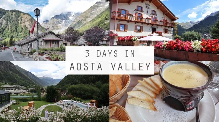 3 days in Aosta Valley